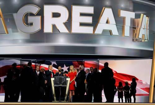 Grande festa per Trump a Cleveland