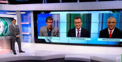 Lite in tv tra Luis Figo e Hirsto Stoichkov