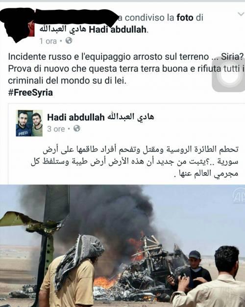 Quei fan italiani dei ribelli siriani che festeggiano la morte dei piloti russi 8