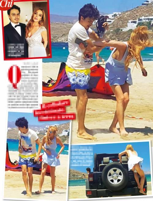 Lindsay Lohan aggredita in spiaggia dall'ex fidanzato 1