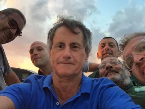 Ventotene, la protesta in barca di Alemanno 4