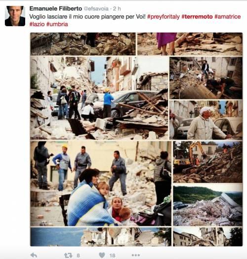 Terremoto e vip, le reazioni social 5