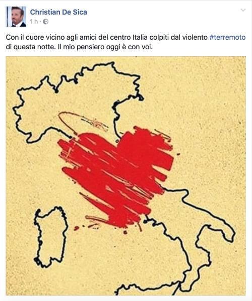 Terremoto e vip, le reazioni social 15