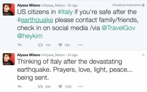 Terremoto, come hanno reagito le star internazionali 17