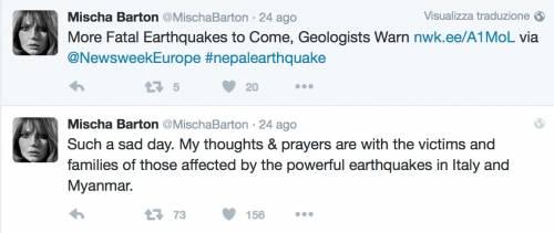Terremoto, come hanno reagito le star internazionali 23
