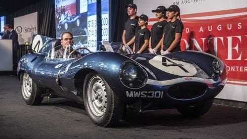 Una Jaguar D-type venduta all'asta per oltre 21 milioni di dollari