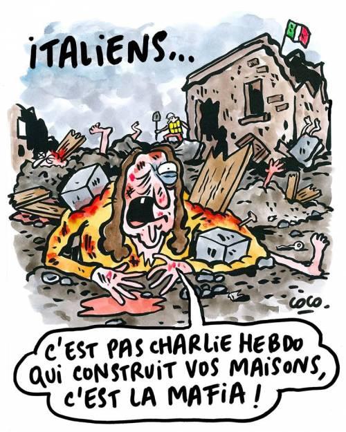 """Charlie Hebdo rincara la dose: """"La mafia fa le vostre case"""""""