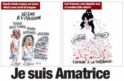 """La vignetta de Il Tempo contro Charlie Hebdo: """"Tartare á la parisienne"""""""