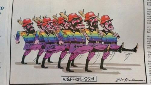La comunità LGBT come le SS, Bill Leak di nuovo sotto accusa