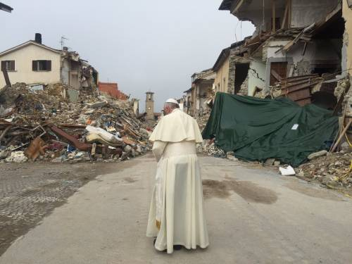Papa Francesco ad Amatrice 3