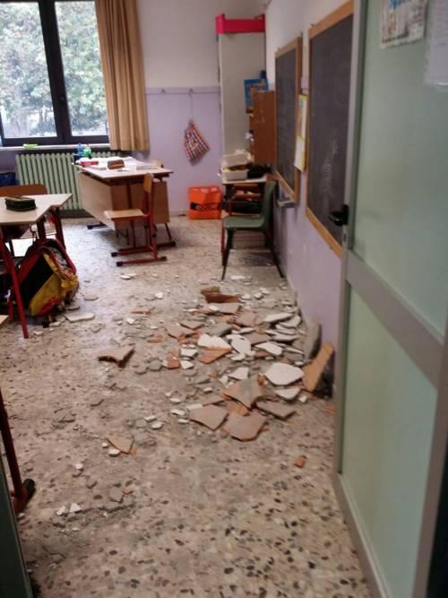 Torino, crollo a scuola 4