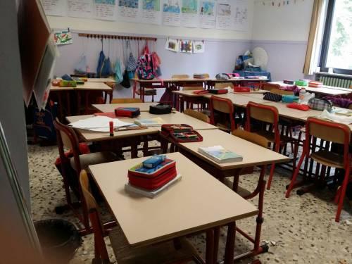 Torino, crollo a scuola 6
