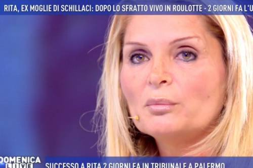"""Domenica Live, ex moglie di Schillaci in lacrime: """"Voglio essere arrestata"""""""