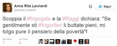 "Raggi: ""Troppi frigoriferi per strada"". E su Twitter è subito #frigogate 13"