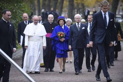 Il Papa in Svezia con la regina Silvia e re Carl Gustaf 5