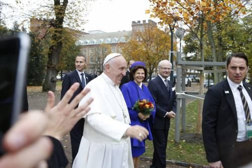 Il Papa in Svezia con la regina Silvia e re Carl Gustaf 2