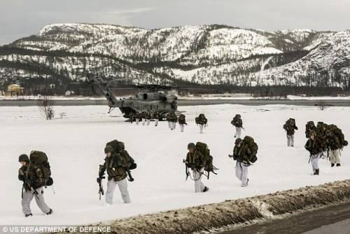 Marines in Norvegia, Mosca punta testate nucleari
