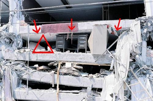 """Terremoto, ecco come sopravvivere: la teoria del """"Triangolo della vita"""""""