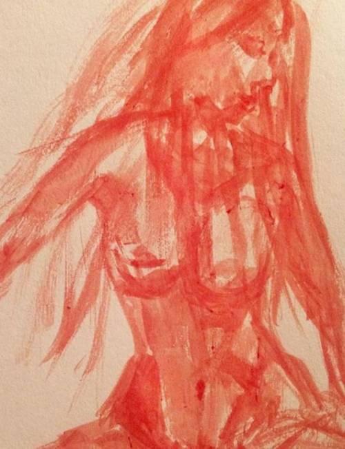 Studentessa dipinge figure femminili usando il suo sangue mestruale
