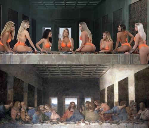 Sfregio all'Ultima Cena di Leonardo da Vinci e a tutto il mondo cristiano