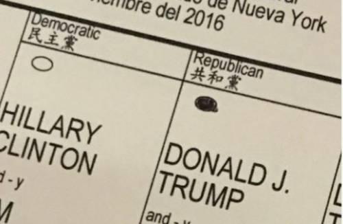Eric Trump pubblica foto della scheda: rischia il carcere