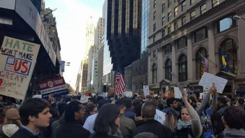 Le proteste di New York viste dall'interno