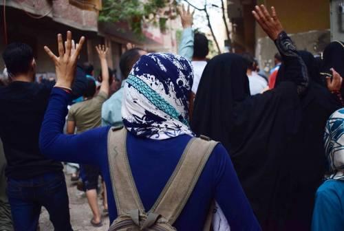 Manifestanti pro-Morsi in corteo a Giza 4