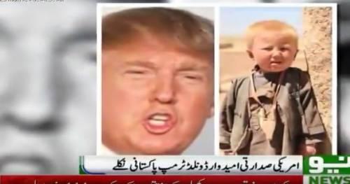 """""""Trump è un orfano pakistano"""": la bizzarra teoria sulle origini del tycoon"""
