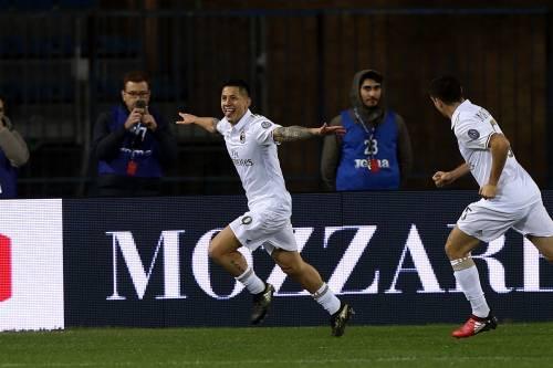 Lapadula e Suso fanno volare il Milan: 4-1 all'Empoli e 2 posto in solitaria