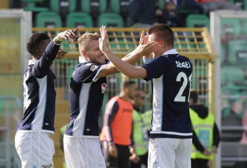 La Lazio espugna 1-0 Palermo: biancocelesti terzi in solitaria