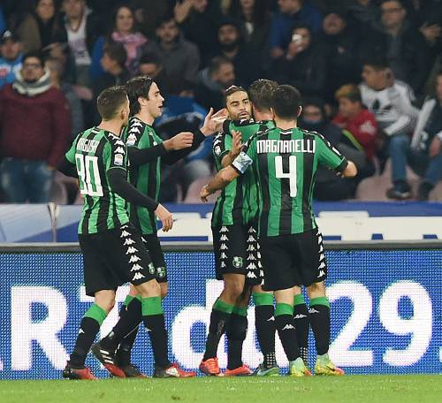 Il Sassuolo sgambetta il Napoli: finisce 1-1 al San Paolo