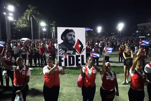 L'ultimo saluto a Fidel Castro a Santiago 12