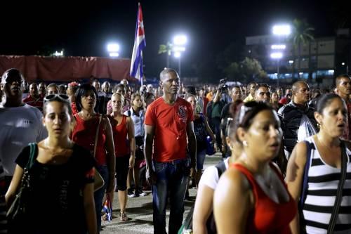 L'ultimo saluto a Fidel Castro a Santiago 13