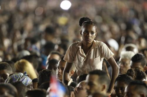 L'ultimo saluto a Fidel Castro a Santiago 17