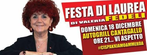 """""""Festa di laurea di Valeria Fedeli"""" L'evento che social che irride la ministra"""