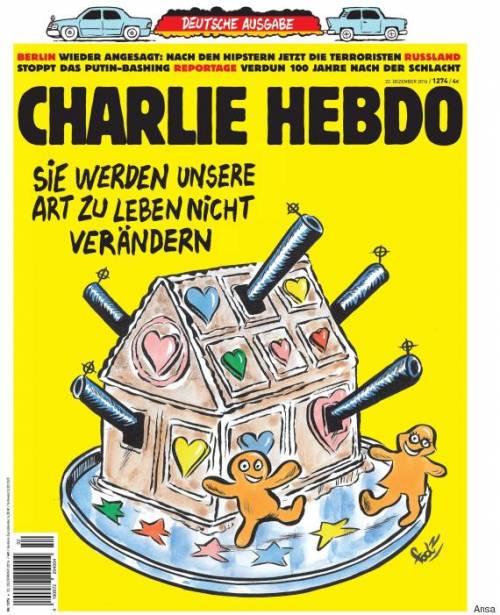 """L'ultimo copertina di Charlie Hebdo. """"Non cambieranno il nostro stile di vita"""""""