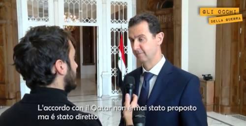"""Assad al Giornale: """"L'Europa sta aiutando l'Isis a colpirla"""""""