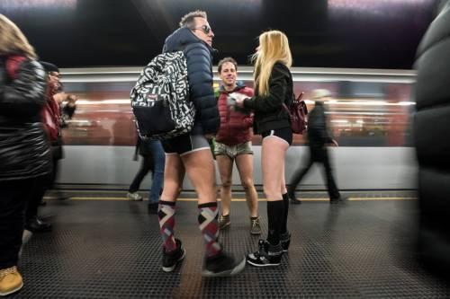 No Pants subway ride, la corsa in metropolitana che sfida il freddo