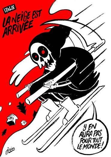 Charlie Hedbo: ancora satira contro le vittime del sisma