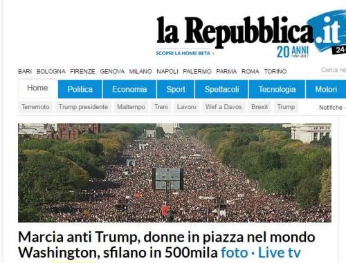 """Le foto """"datate"""" della marcia delle donne anti-Trump 2"""