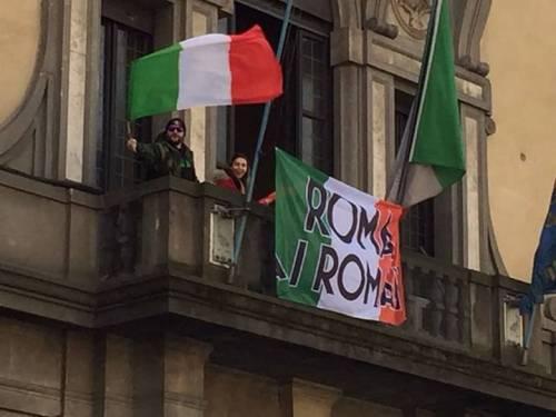 La protesta dell'estrema destra al fianco dei senza casa italiani 5