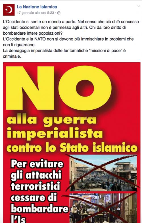 """""""Italia islamica e patriottica"""": i post a favore dell'Isis e della Sharia 6"""