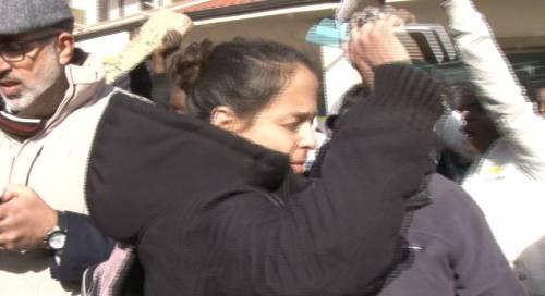 Veronica Padoan al corteo degli immigrati di San Ferdinando 8
