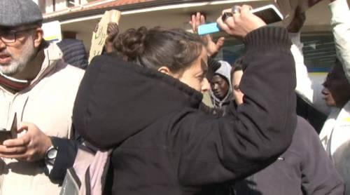Veronica Padoan al corteo degli immigrati di San Ferdinando 5