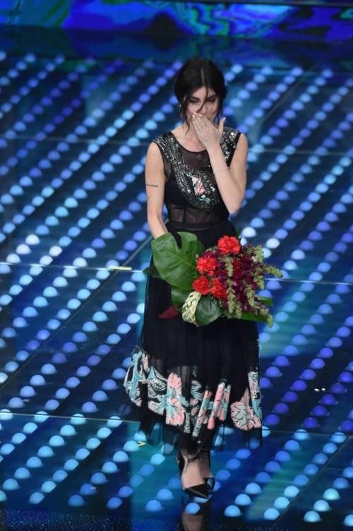 Bianca Atzei si commuove sul palco di Sanremo 3