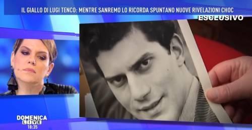 """Domenica Live, rivelazioni choc sulla morte di Luigi Tenco: """"È stato ucciso"""""""