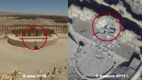 Isis distrugge il teatro romano: drone mostra i danni a Palmira