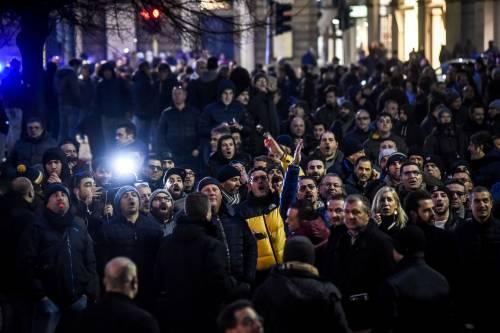 La protesta dei tassisti a Milano  2