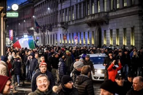 La protesta dei tassisti a Milano  4