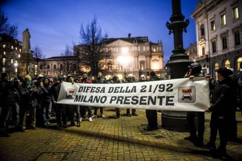 La protesta dei tassisti a Milano  6